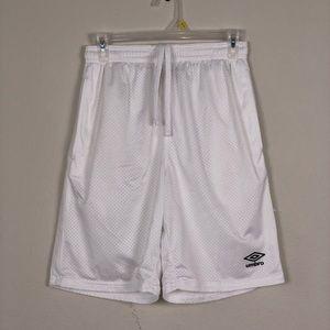 Vintage white Umbro gym shorts